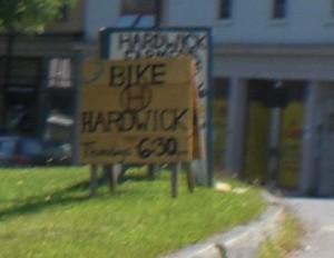 Bike Hardwick, Thursdays 6:30 pm